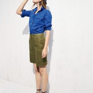 J. Crew Cuffed Bermuda Linen Shorts